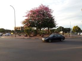 The roads in Gabarone